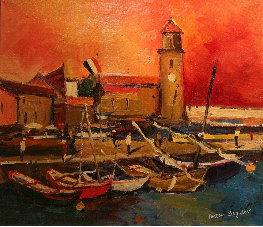 port collioure landscape
